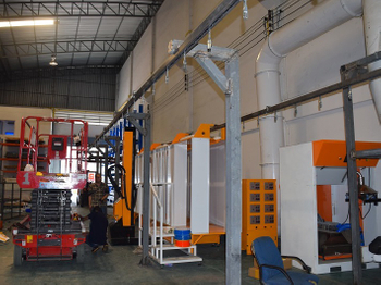 Automatic Powder Coating System Installed in Thailand