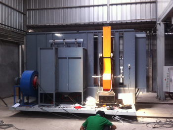 Compact Powder Coating Line Installed in Indonisia